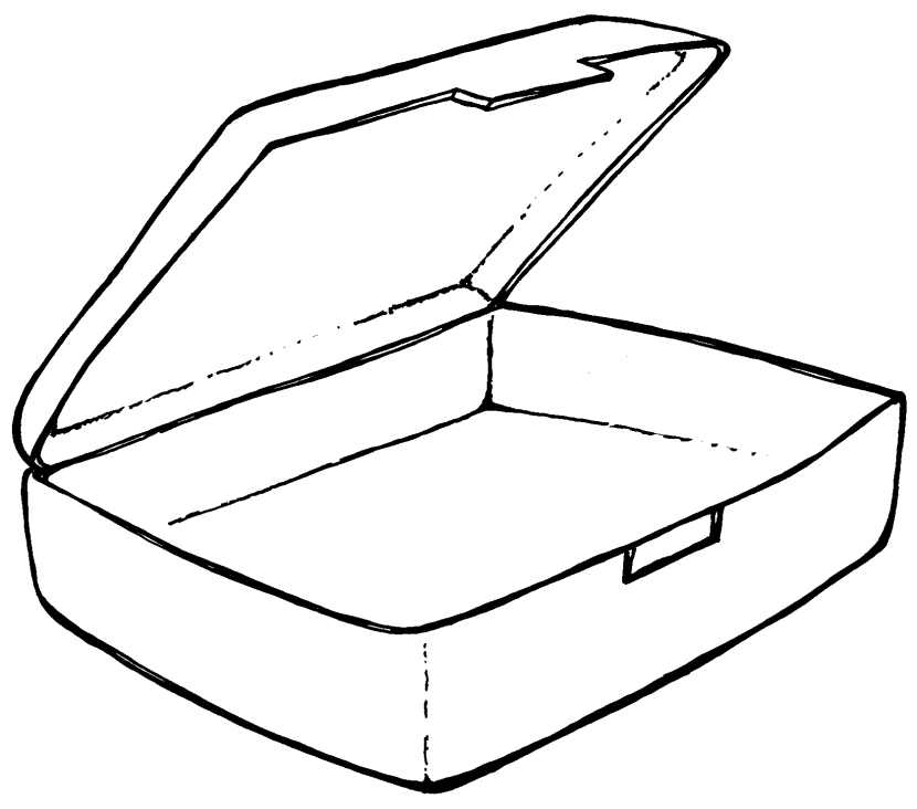 Lunch Box Clipart Black And White.