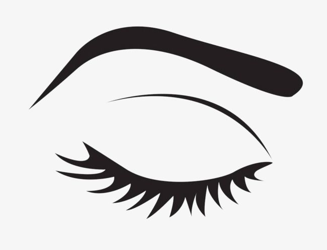 Black Simple Eyes, Eyes Clipart, Make Up, Makeups PNG.