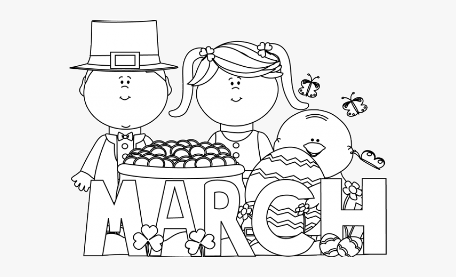 March Clipart Black And White, Cliparts & Cartoons.