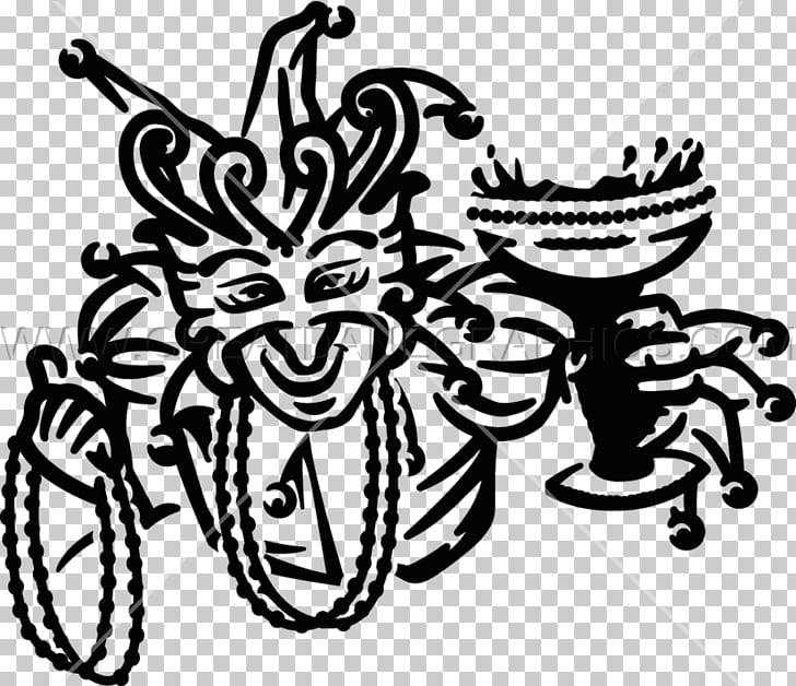 Black and white Drawing , mardi gras bead PNG clipart.