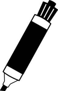 Marker clipart black and white » Clipart Station.