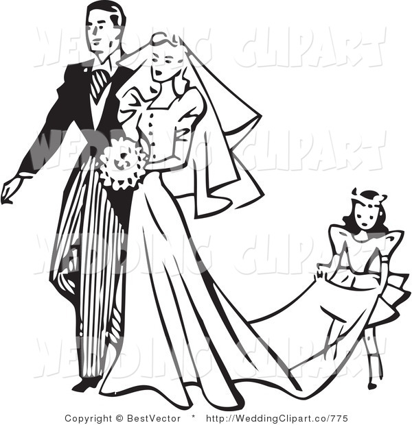 Marriage Clipart Black White.