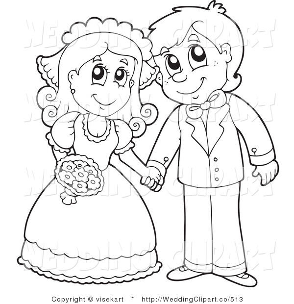 Cute Wedding Clipart Black And White.