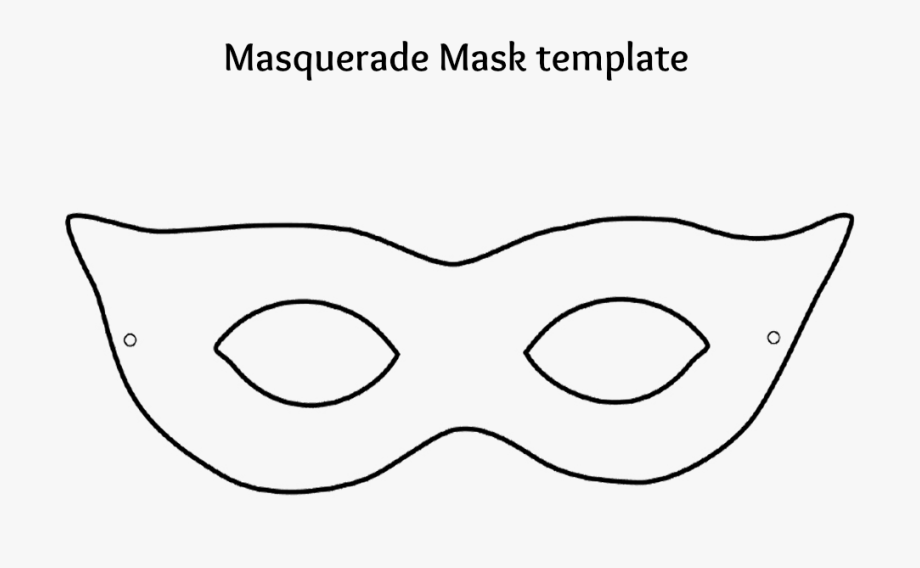 Masks Clipart Black And White.