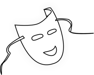 Mask Clipart Black And White.