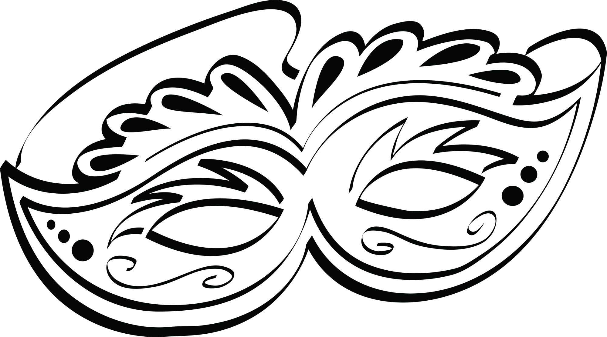 Free Mask Clipart Black And White, Download Free Clip Art.