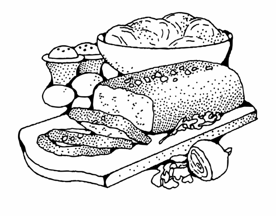 Free Meal Clipart Black And White, Download Free Clip Art.