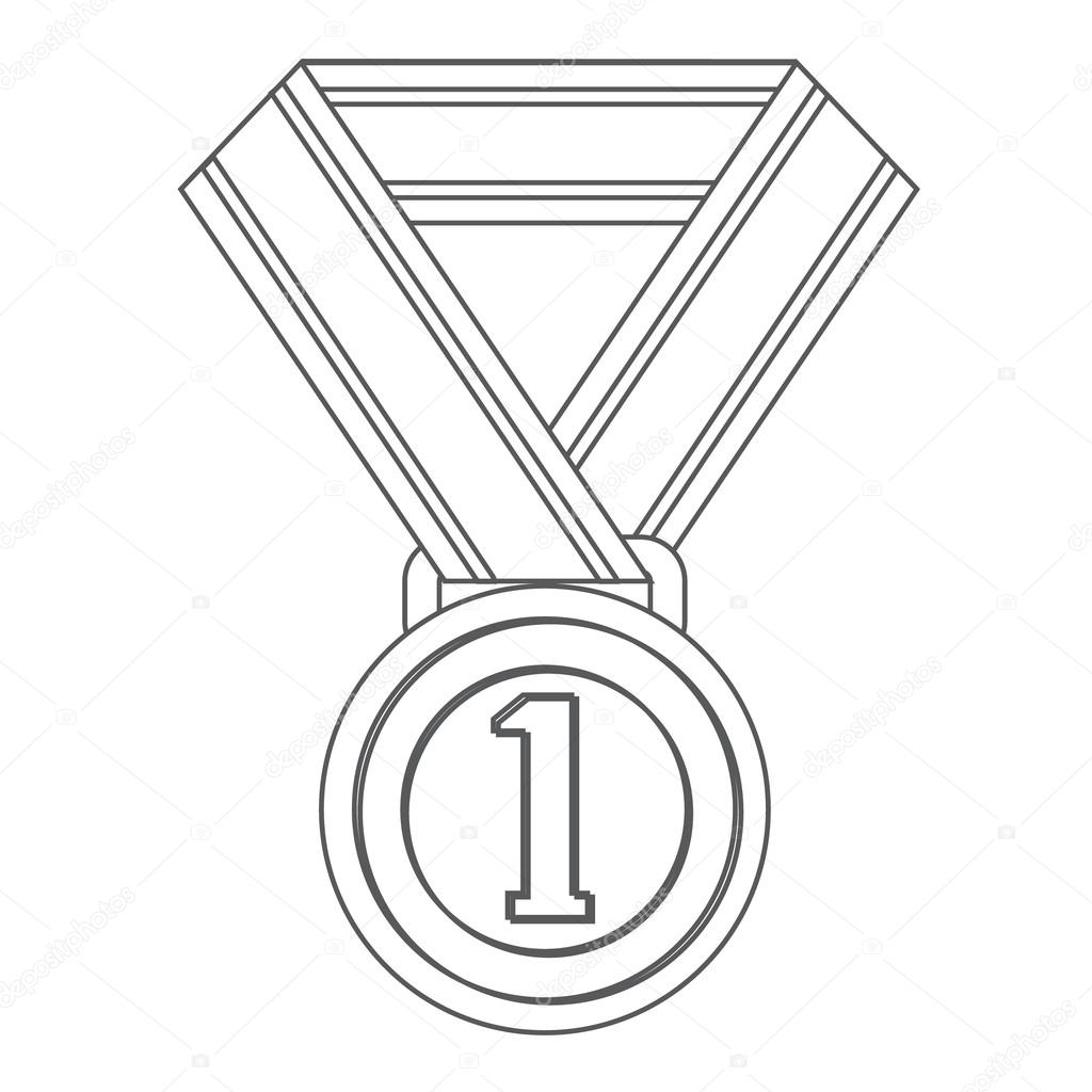 Medal Clipart Black And White.