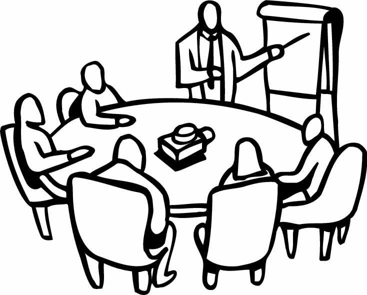 Group Meeting Clipart Black And White.