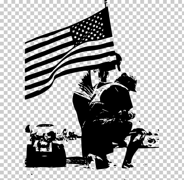 Memorial Day Black and white , memorial day usa PNG clipart.