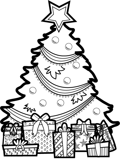 Free Merry Christmas Clip Art Xmas Tree Graphics Borders Useful.