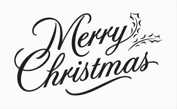 Merry christmas black and white merry christmas clipart script.