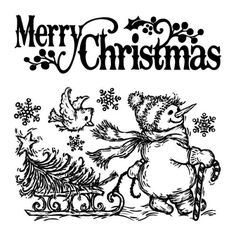 Merry Christmas Clipart Black And White (79+ images in Collection.