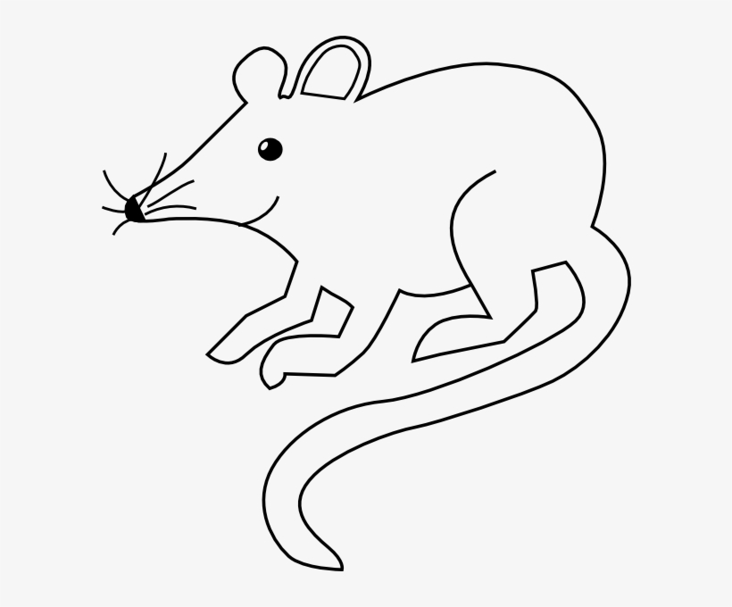 Picture Black And White Mice Clipart Outline.