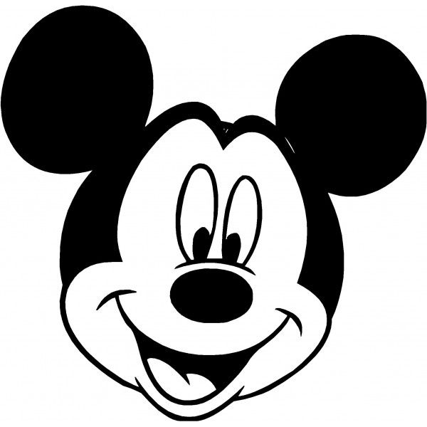 Mickey Mouse Clip Art Silhouette Clipart Panda Free Clipart.