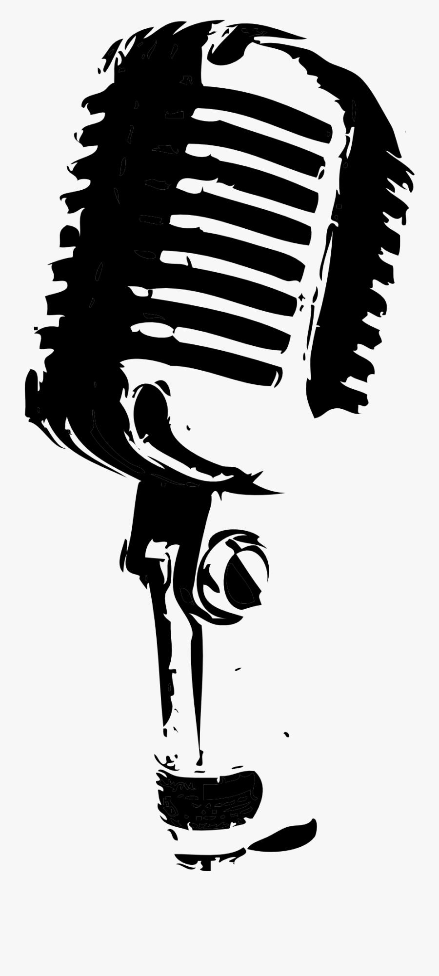 Singing Mike Clip Art.