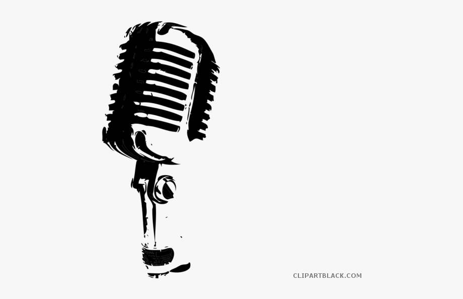 Mic Clipart Black And White.