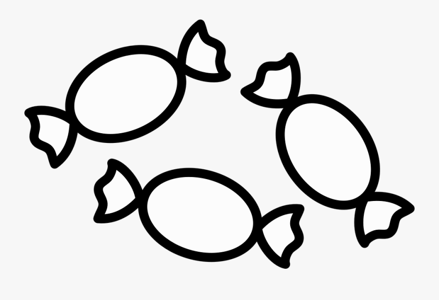 Candies Clipart Black And White 5.