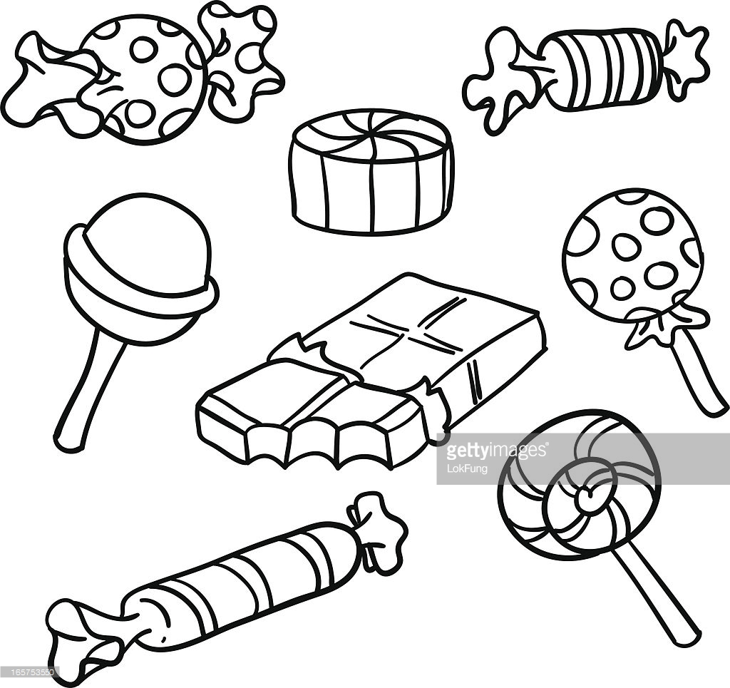 Candies clipart black and white 3 » Clipart Station.