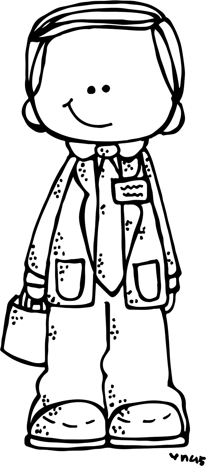 Lds Boy Clipart Black And White.