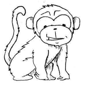 Monkey black and white monkey clip art free.