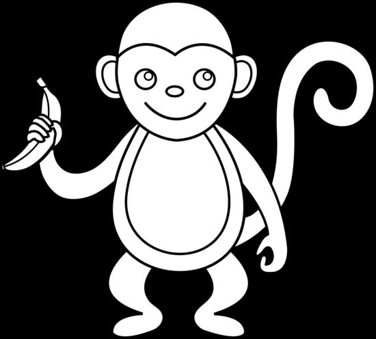 Monkey Outline.