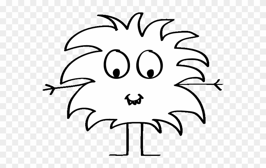 Animated Monster Black And White Clipart (#1363482).
