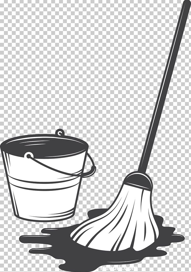 Cleaning Tool Illustration PNG, Clipart, Art, Black And.