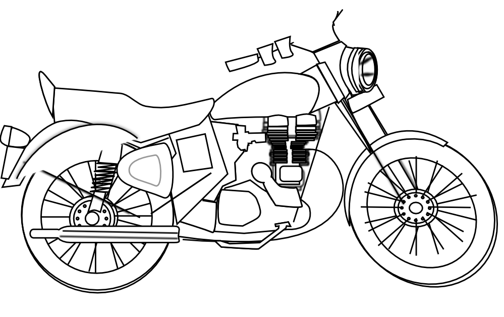 Motorbike clipart black and white 4 » Clipart Station.