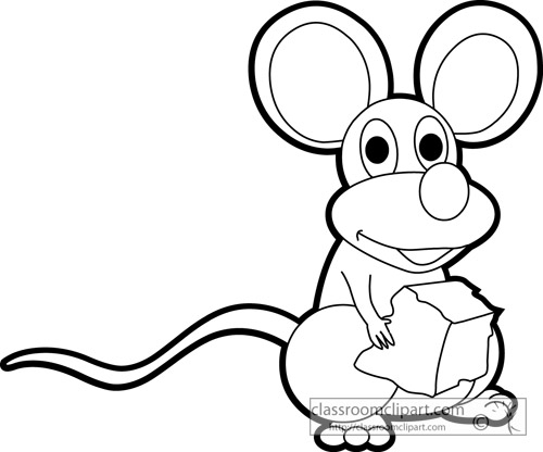 Mouse clipart black and white 7 » Clipart Station.