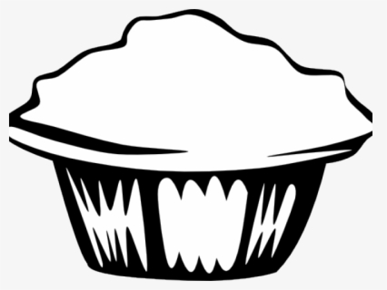 Free Muffin Black And White Clip Art with No Background.