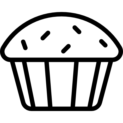 Cupcake Clipart Black And White Png.