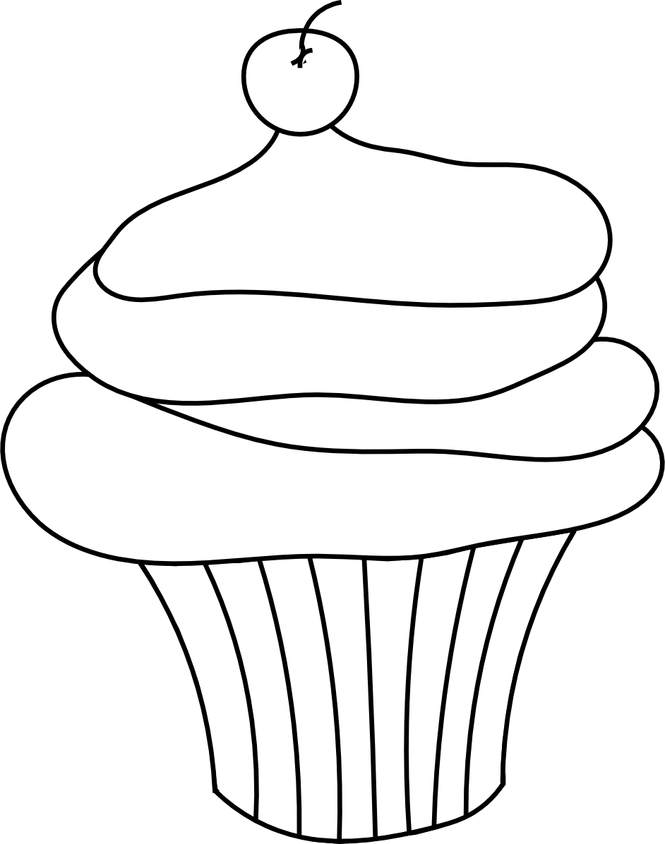 Free Black And White Muffin, Download Free Clip Art, Free.