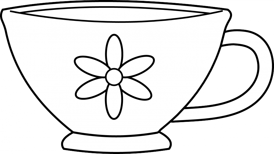 Clipart cup black and white, Clipart cup black and white.