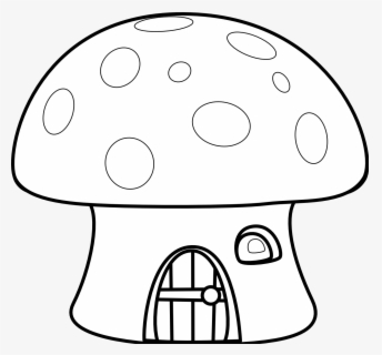 Free Mushroom Black And White Clip Art with No Background.