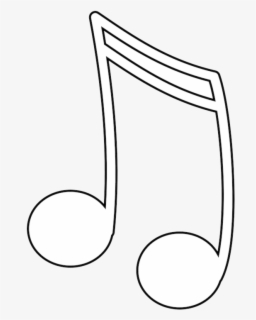 Free Music Notes Black And White Clip Art with No Background.