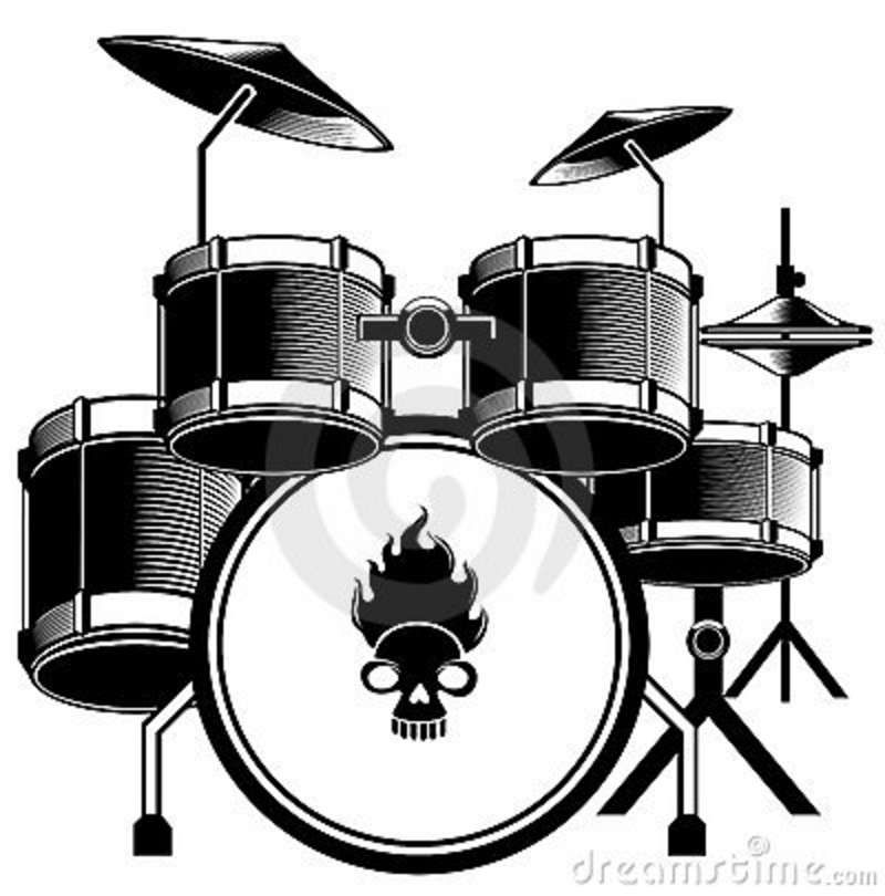 music instrument clipart black and white.