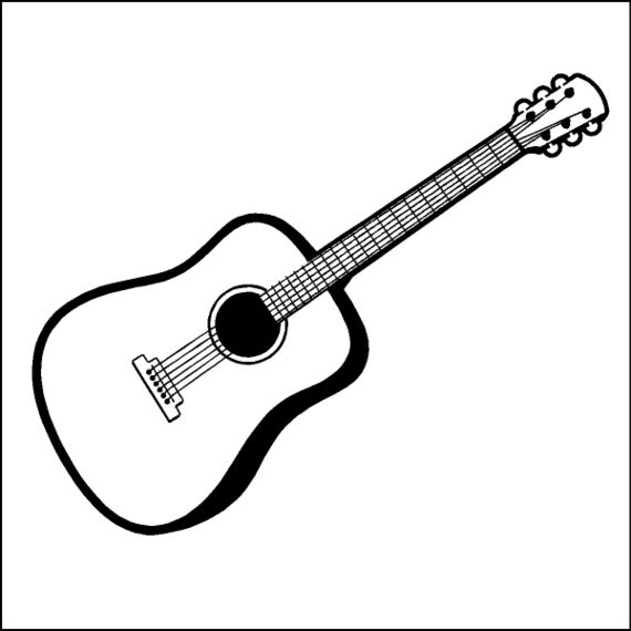 Musical Instruments Clipart Black And White.