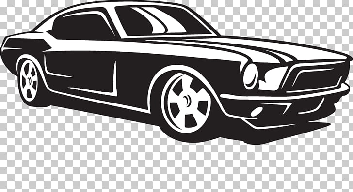 Compact car Ford Mustang Classic car, car PNG clipart.