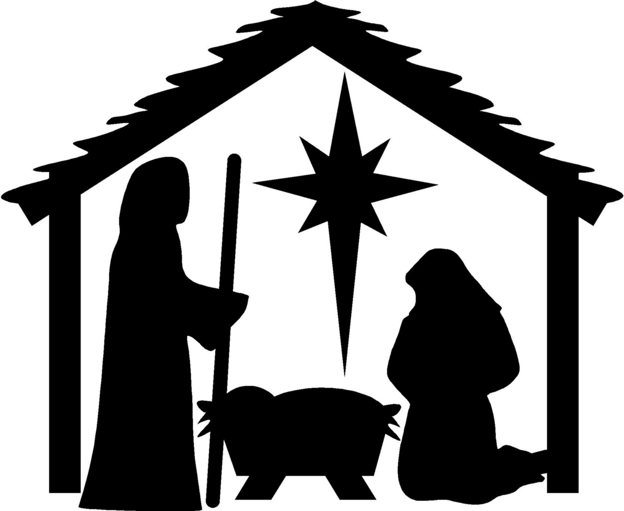 Free Nativity Black Cliparts, Download Free Clip Art, Free.