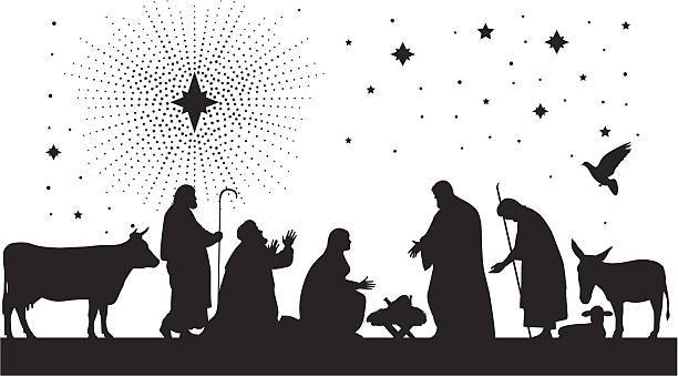 Free black and white nativity scene clipart 4 » Clipart Portal.