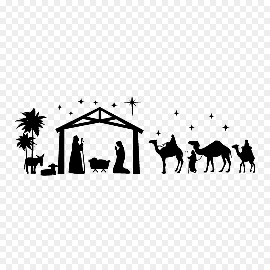Christmas Black And Whitetransparent png image & clipart free download.
