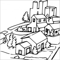 Free Neighborhood Clipart Black And White, Download Free.