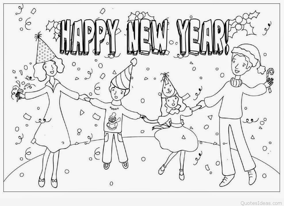 New years clipart black and white 3 » Clipart Station.