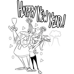 black and white new years eve party invitation vector.