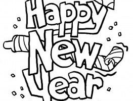 New years clipart black and white 1 » Clipart Station.