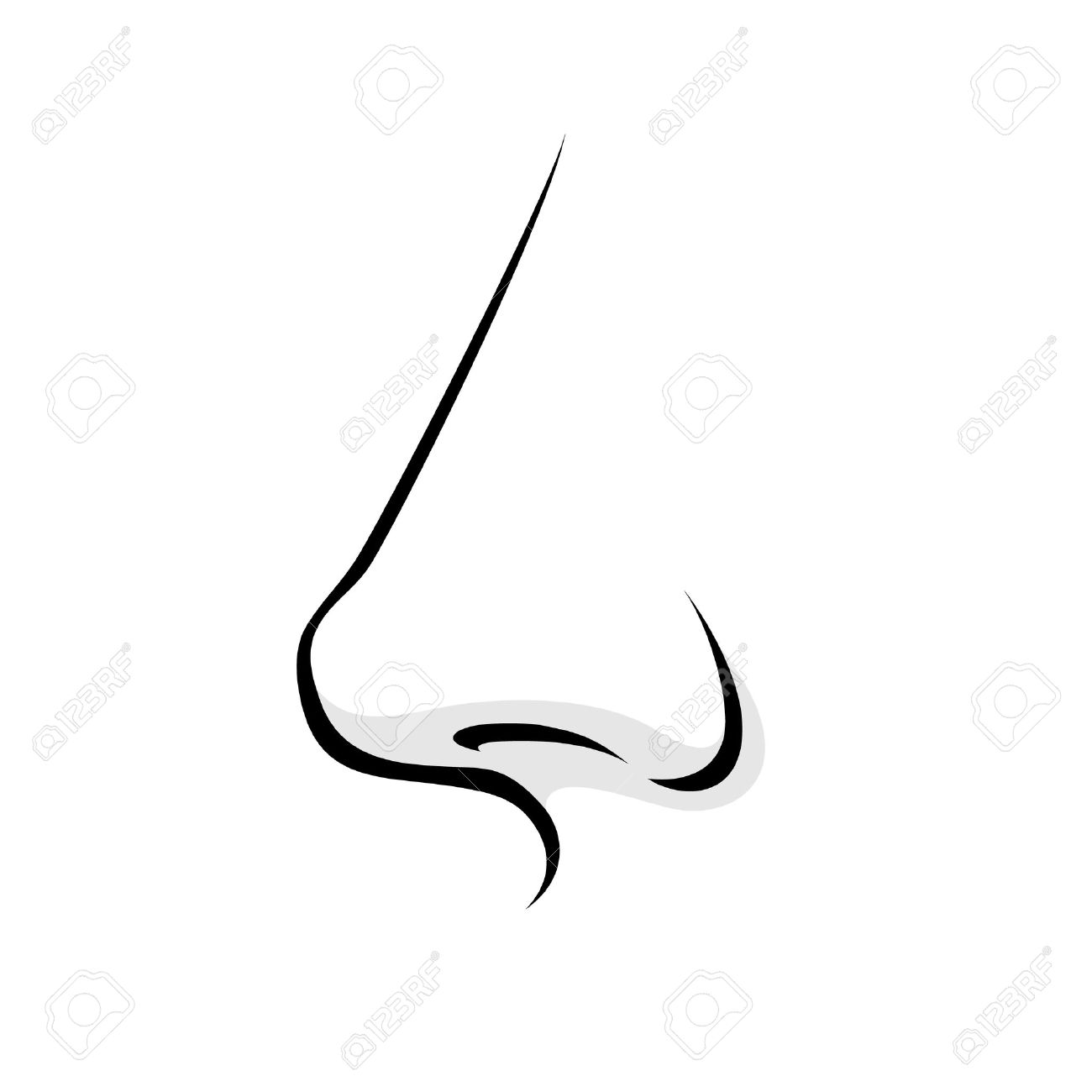 Human nose clipart black and white 7 » Clipart Station.