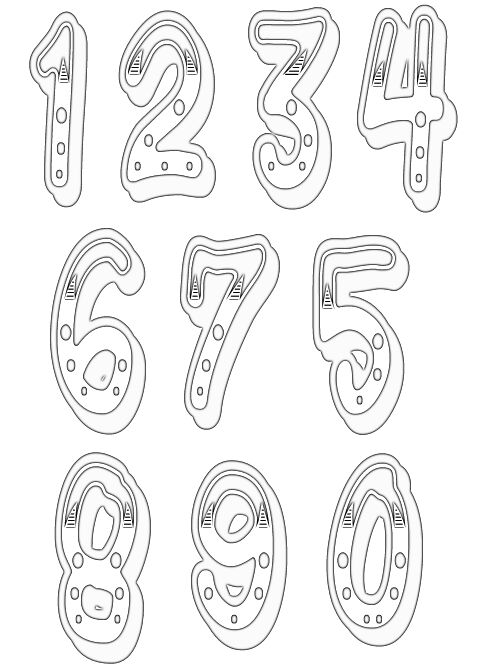 black and white numbers clipart Clipground