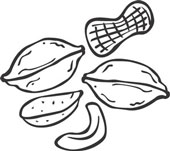 Mixed Nuts Clipart Black And White.