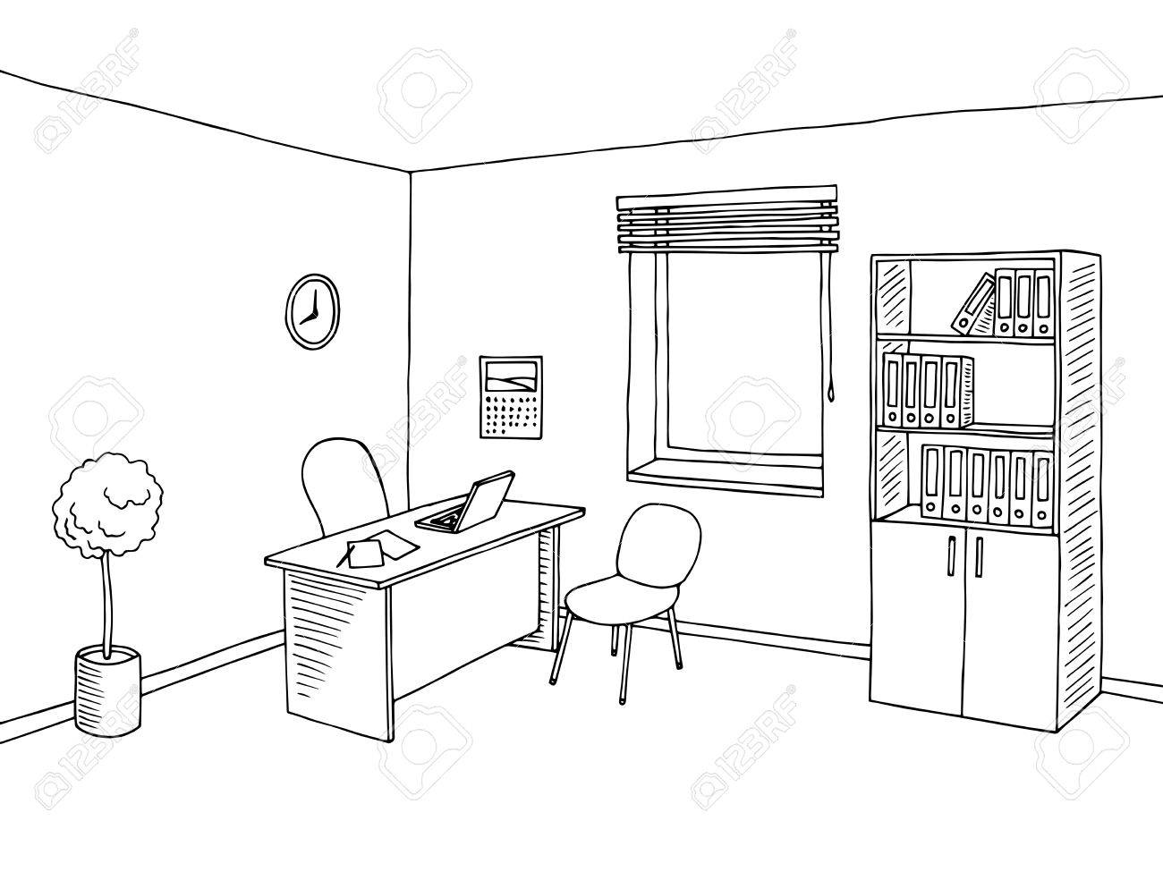 Office clipart black and white 6 » Clipart Station.